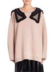 Marc Jacobs Embroidered Oversized Sweatshirt Rose