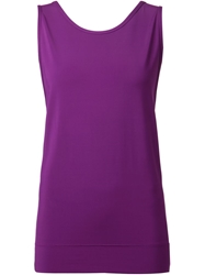 Helmut Lang Scoop Back Tank Top Pink And Purple