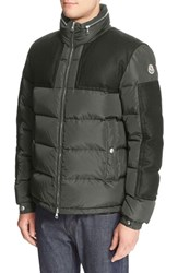 Moncler Men's 'Arcs' Wool Trim Quilted Down Coat