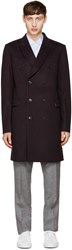 Paul Smith Navy Wool Double Breasted Coat