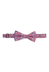 Forever 21 Rose Print Bow Tie Red Blue