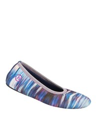 Isotoner Contrast Trim Ballet Slippers Navy Galaxy