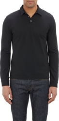 Zanone Slub Polo Shirt Black