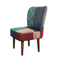 Desigual Patchwork Jacquard Chair Green