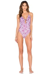 For Love And Lemons Cannes Swimsuit Purple