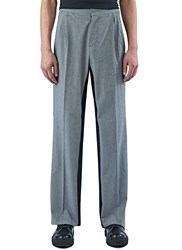 Yang Li Houndstooth Wide Leg Pants Grey