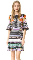 Temperley London Cherise Dress Black Mix