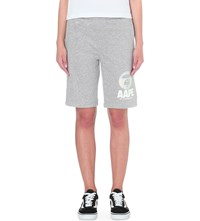Aape By A Bathing Ape Camouflage Print Cotton Blend Shorts Grey
