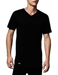 Lacoste Essentials Cotton V Neck Tee Pack Of 3 Black