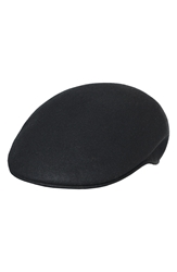 Scala 'Classico' Crushable Felt Driving Cap Black