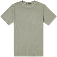 Alexander Wang T By Washed Pocket Tee Green