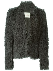 A.F.Vandevorst '152 Brazil' Fluffy Coat Grey
