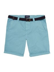 Criminal Travis Cotton Chino Shorts Washed Teal