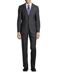 Hugo Boss Grand Central Solid Two Piece Suit Dark Gray