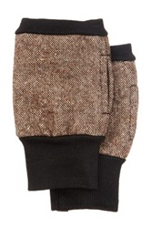 Rogue Fingerless Tweed Gloves Brown