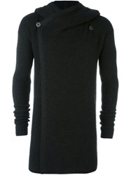 Rick Owens Hooded Cardigan Black