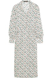 Mother Of Pearl Printed Silk Crepe Midi Dress Off White