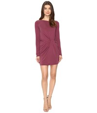 Culture Phit Jaclyn Long Sleeve Dress With Front Twist Burgundy Women's Dress