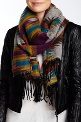 Lava Oversized Scarf Purple