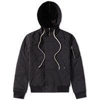 Rick Owens Drkshdw Hooded Short Bomber Jacket Black