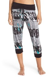 Kensie Women's Dkny Crop Joggers Black Multi
