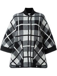 M Missoni Checked Oversized Coat Black