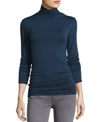 Max Studio Ruched Jersey Top H. Saphire