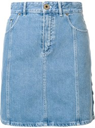 Chloe High Waisted Denim Skirt Blue