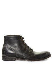 Dolce And Gabbana Distressed Leather Ankle Boots Black Multi