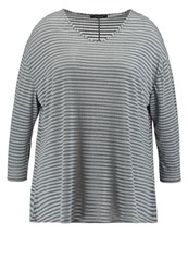 Dorothy Perkins Curve Long Sleeved Top Blue Grey