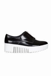 Opening Ceremony Zip Front Shiny Platform Oxfords Black