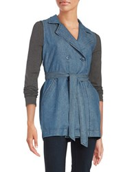 Sanctuary Belted Denim Vest Marine Wash