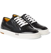 Berluti Playtime Burnished Leather Sneakers Black