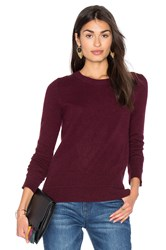 White Warren Crew Neck Sweater Burgundy