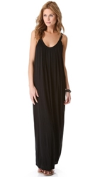 Velvet Slinky Maxi Dress Black