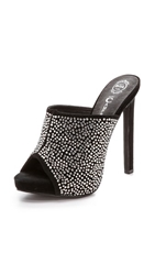 Jeffrey Campbell Roberts Embellished Mules Black Silver