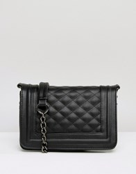 Missguided Exclusive Quilted Box Bag With Chain Handle Black