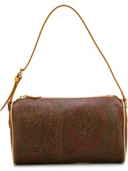 Etro Paisley Print Shoulder Bag Brown