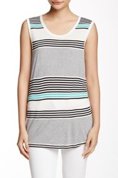 Candc California Denise Scoop Neck Back Cutout Tank Multi