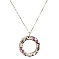 Emily Mortimer Jewellery Wanderlust Silver Amethyst Necklace Silver Pink Purple