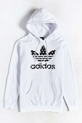 Adidas Star Filled Pullover Hoodie White