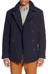 Men's Original Penguin 'Lance' Heritage Slim Fit Wool Blend Peacoat
