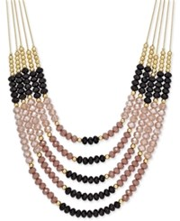Inc International Concepts Gold Tone Multi Bead Layered Necklace Only At Macy's