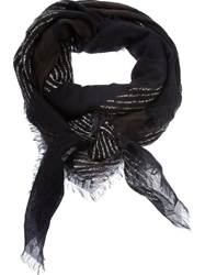 Golden Goose Deluxe Brand Patterned Scarf Black