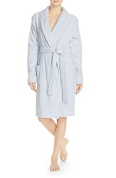Women's Nordstrom Lingerie Cozy Terry Robe Blue Xenon