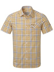 Craghoppers Lomand Short Sleeved Shirt Mustard