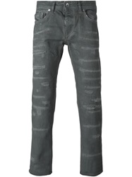 Diesel Black Gold Distressed Jeans Grey