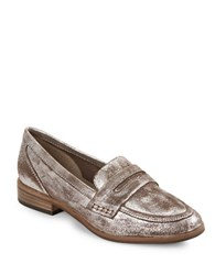 Seychelles Tigers Eye Leather Loafers Pewter