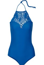 Mikoh Moorea Crocheted Swimsuit Blue