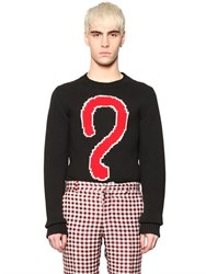 Au Jour Le Jour Question Mark Intarsia Wool Sweater